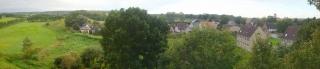 Panorama vom Kirchturm in Richtung Alt Kentzlin und Augrabental